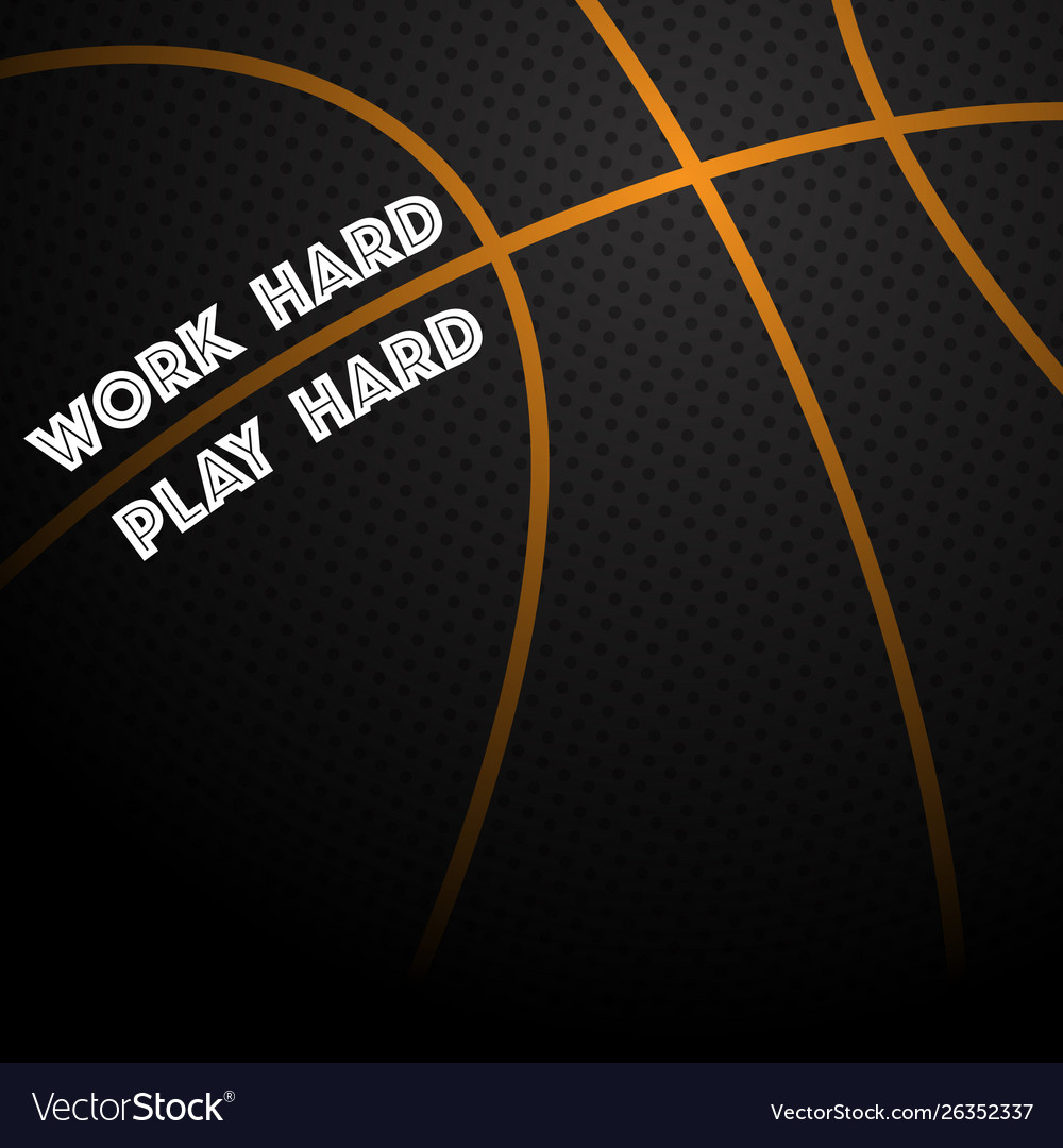 Basketball text background