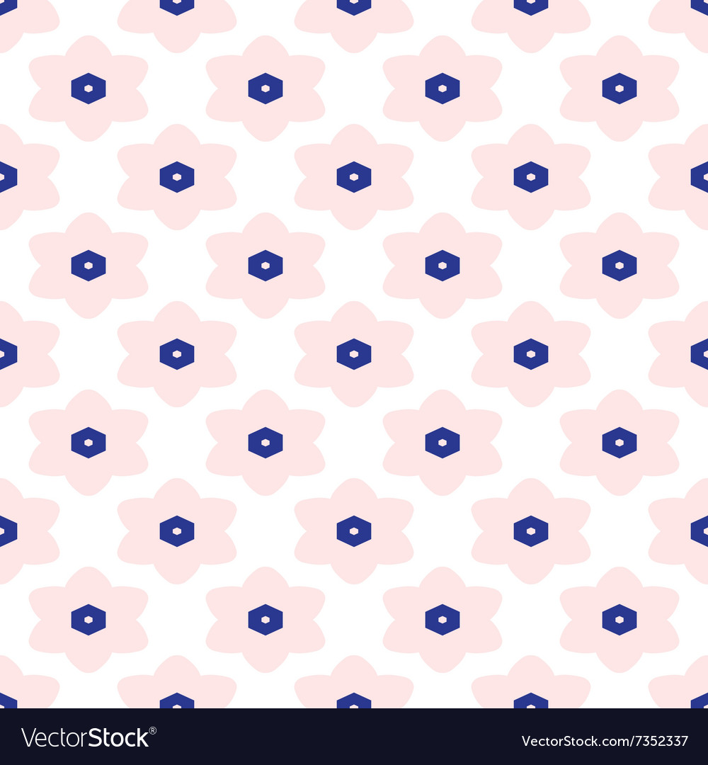 Blue and white moroccan seamless pattern
