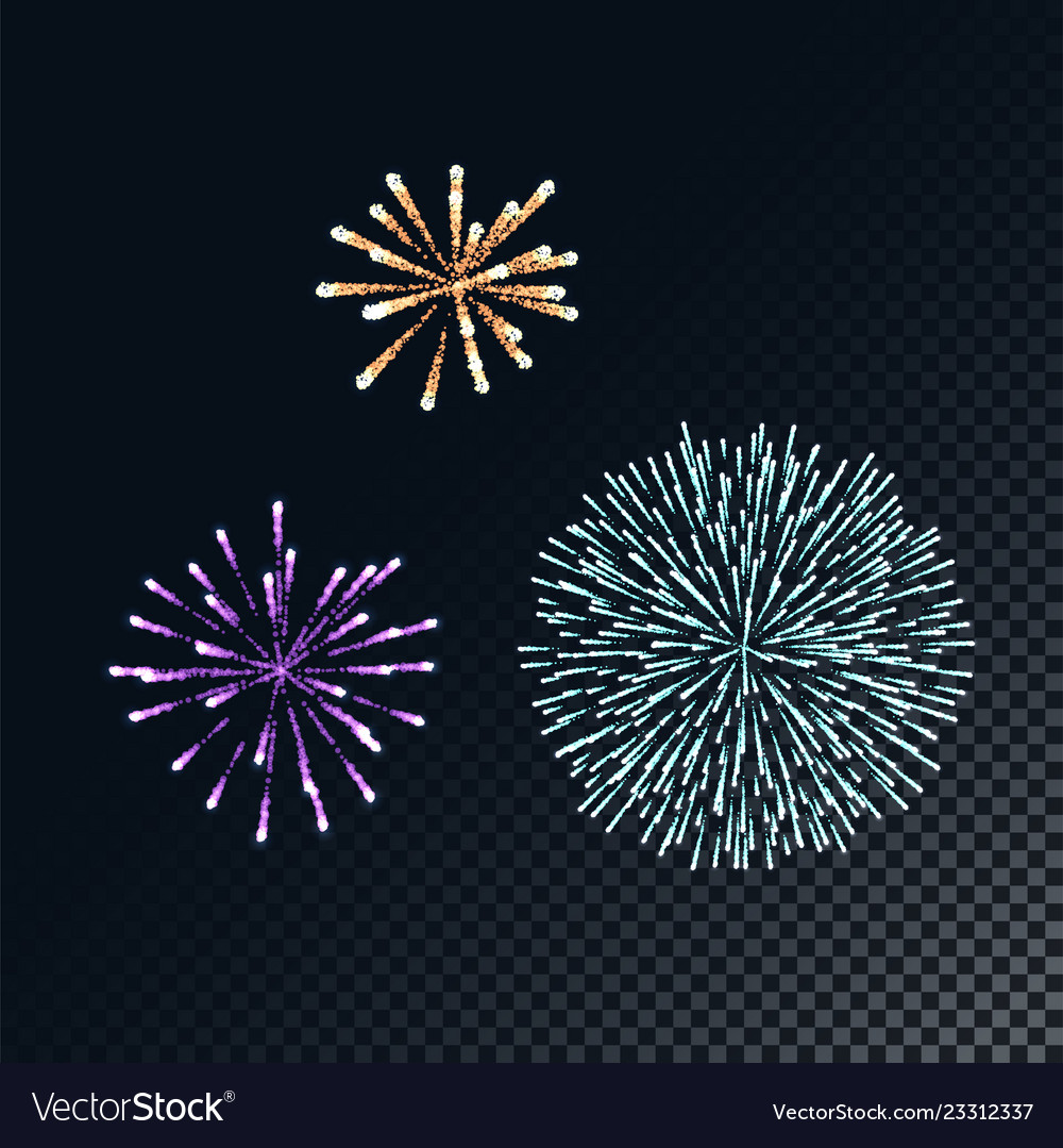 Colorful fireworks concept