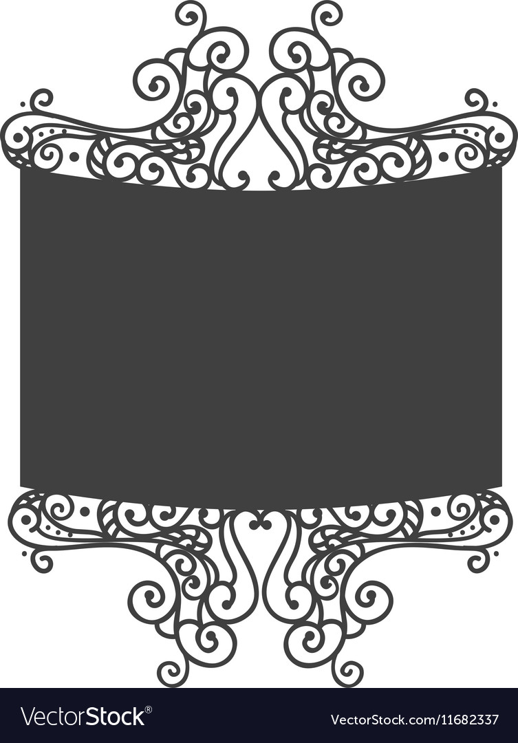 Elegant frame decorative icon