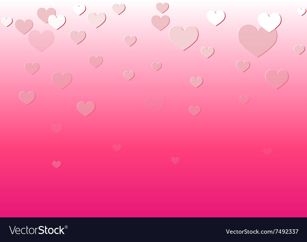 Falling Heart Pink Background
