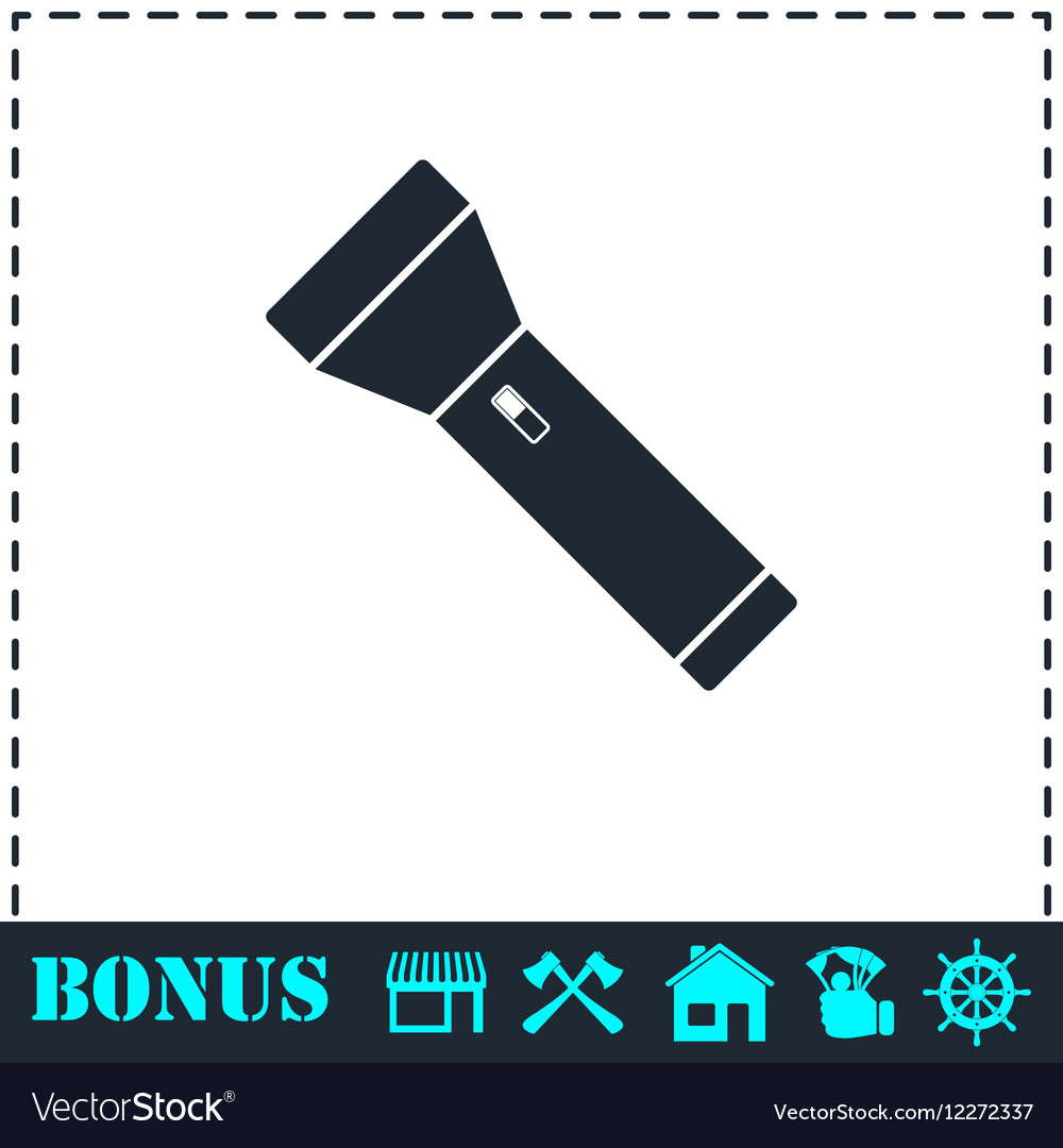 Flashlight icon flat