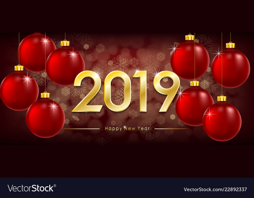 Happy new year 2019 greeting card new year winter