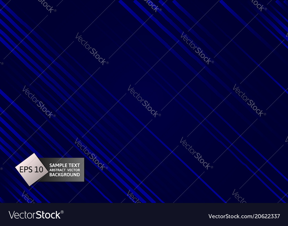 Line blue color geometric abstract on black vector image