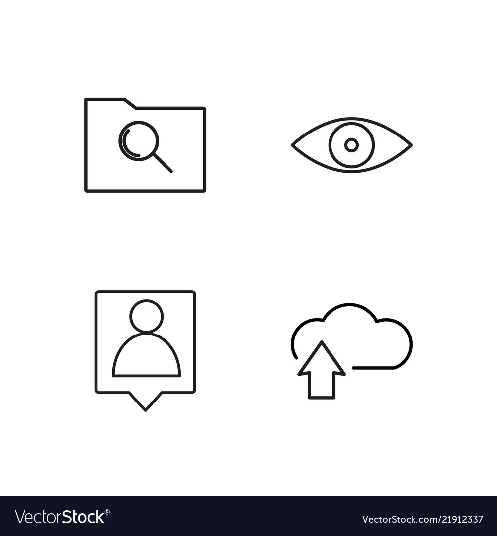 Office outline icons set