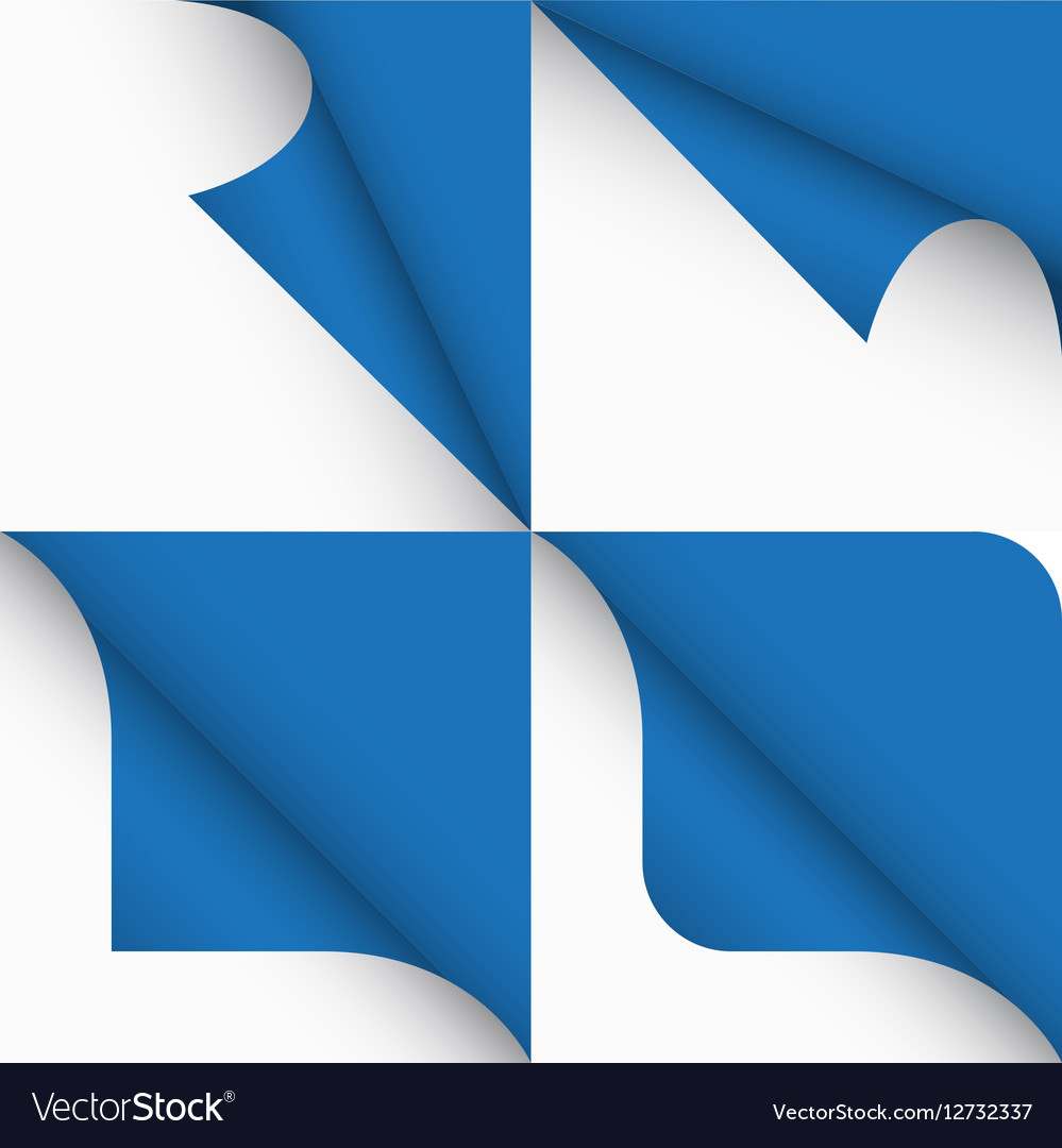 Set of paper curled corners of page vector image
