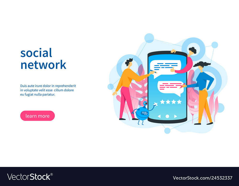 Social network template vector