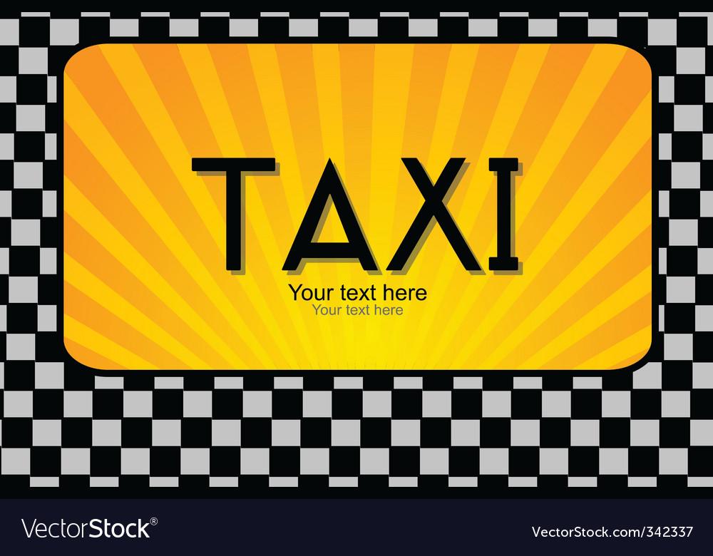 Taxi text vector image