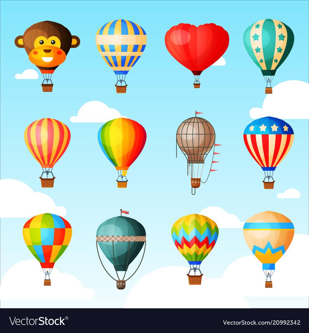 Balloon cartoon air-balloon or aerostat