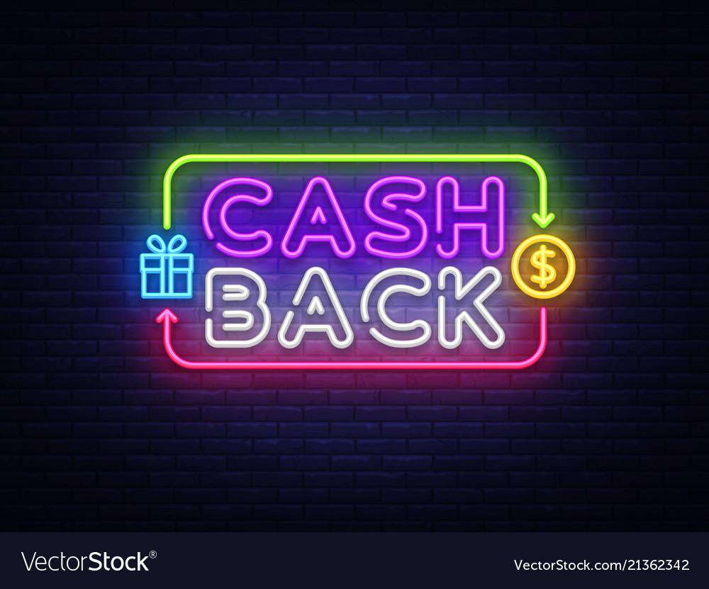 Cash back sign design template cash back