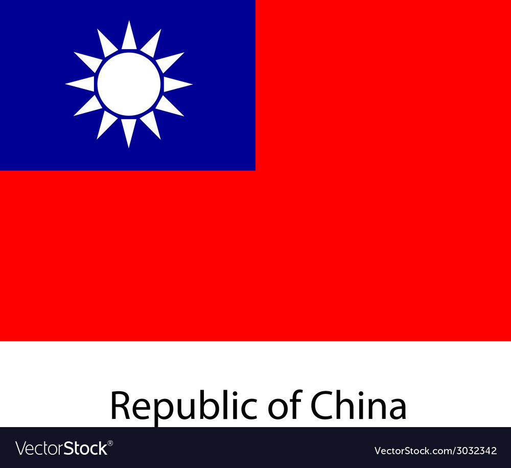 Flag the country republic of china