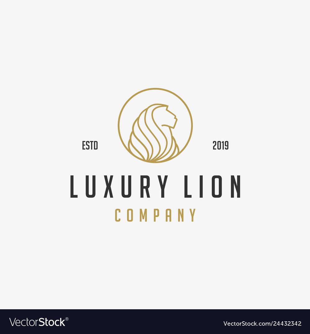 Luxury lion icon logo