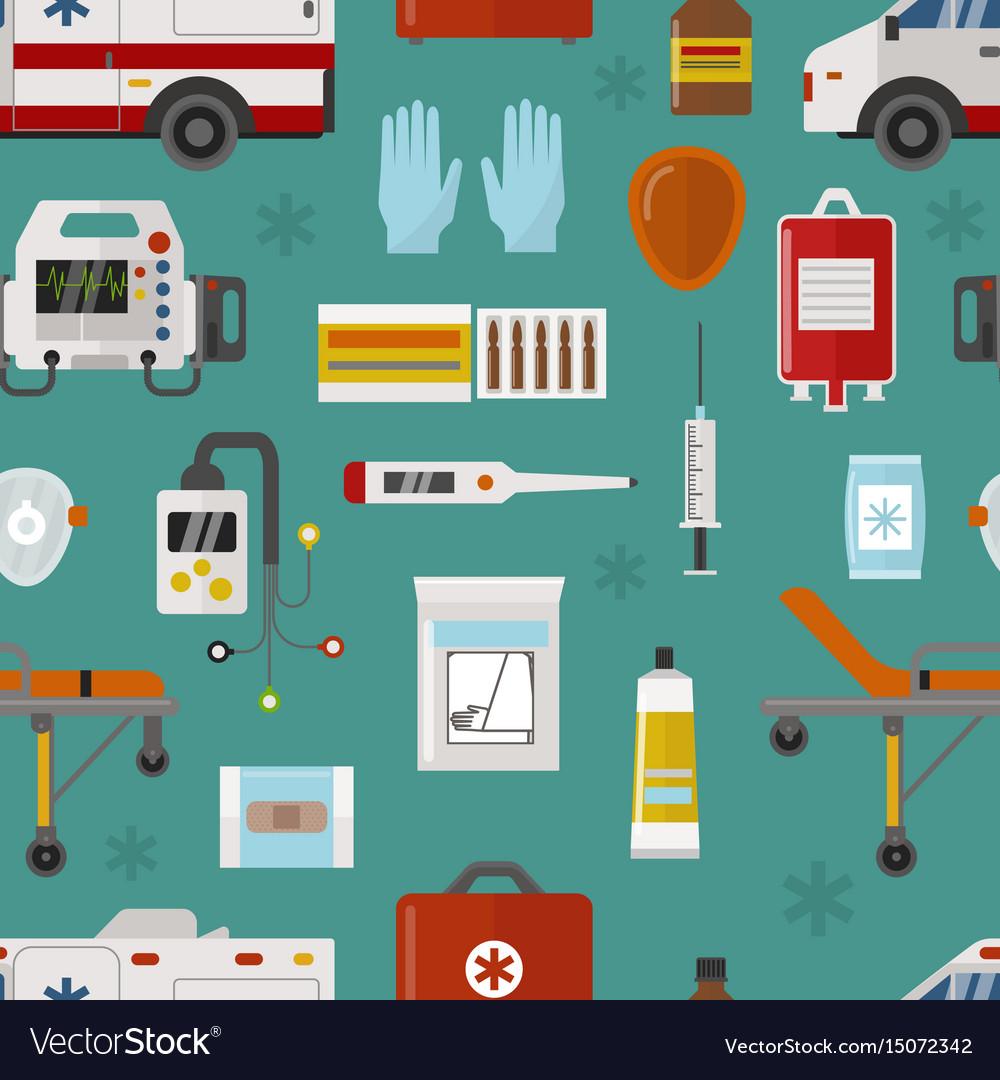 Medical icons set care ambulance emergency