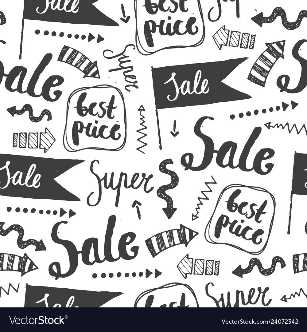 Sale seamless doodle pattern best price