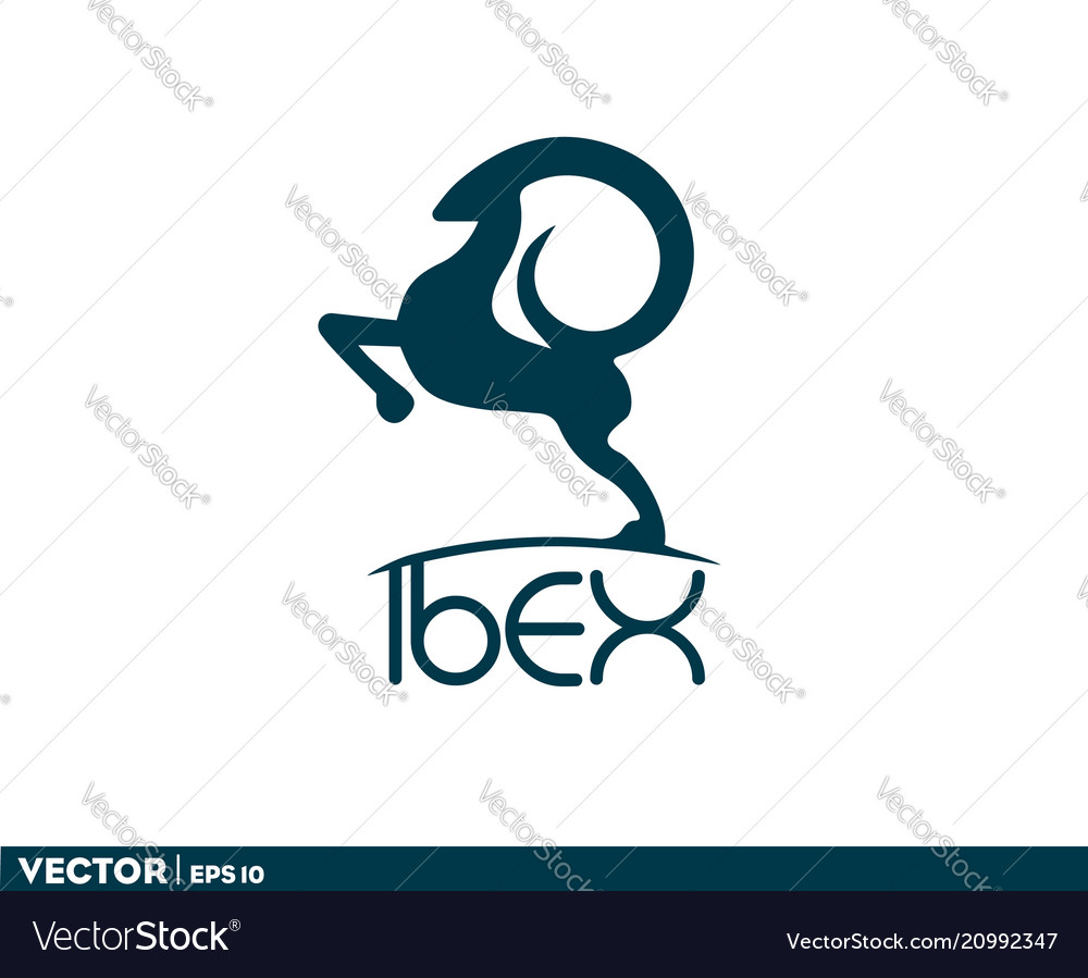 Abstract ibex logo