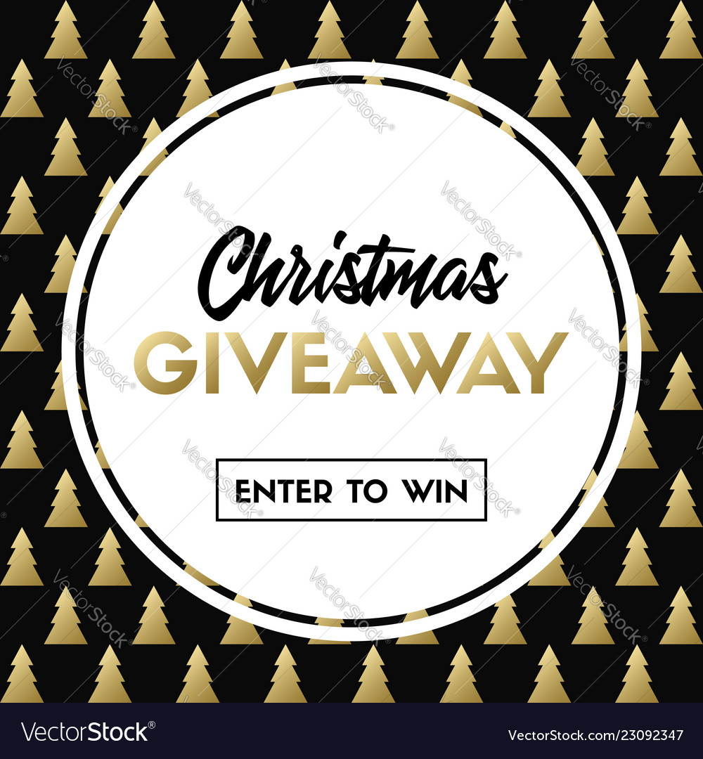 Christmas giveaway template for holiday contest