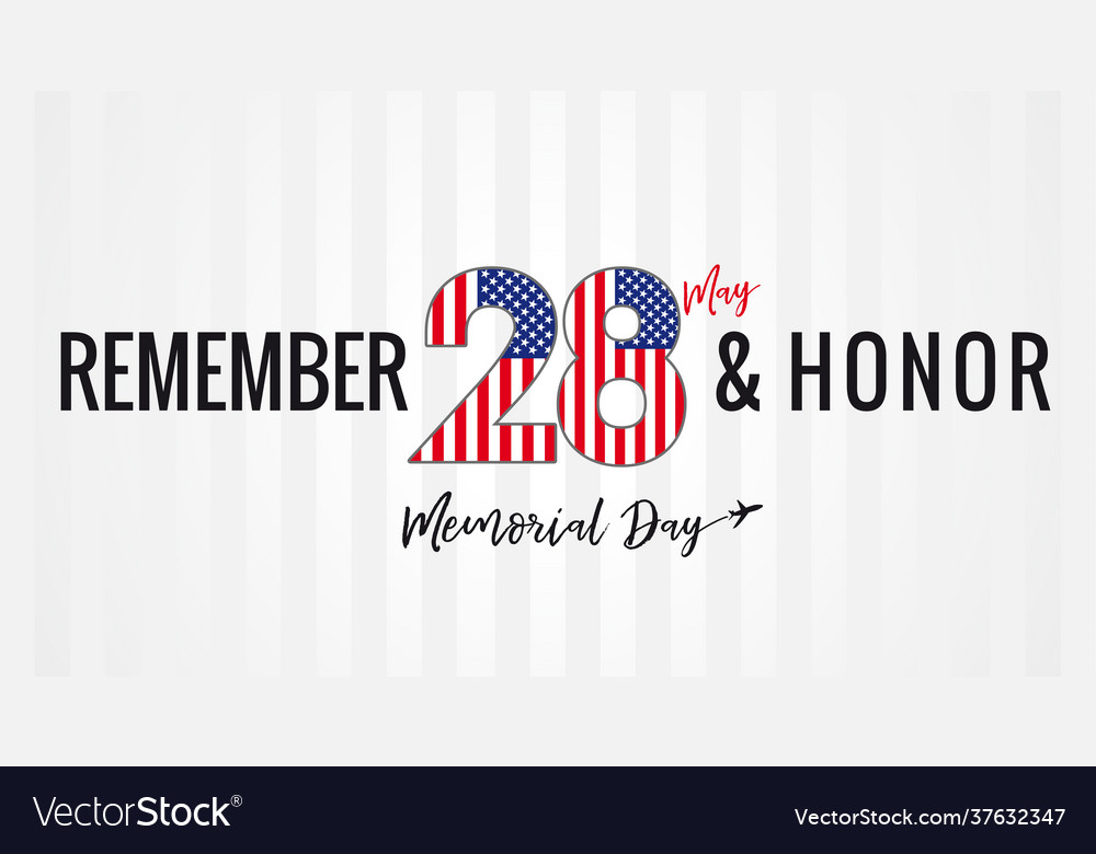 Remember and honor memorial day usa poster