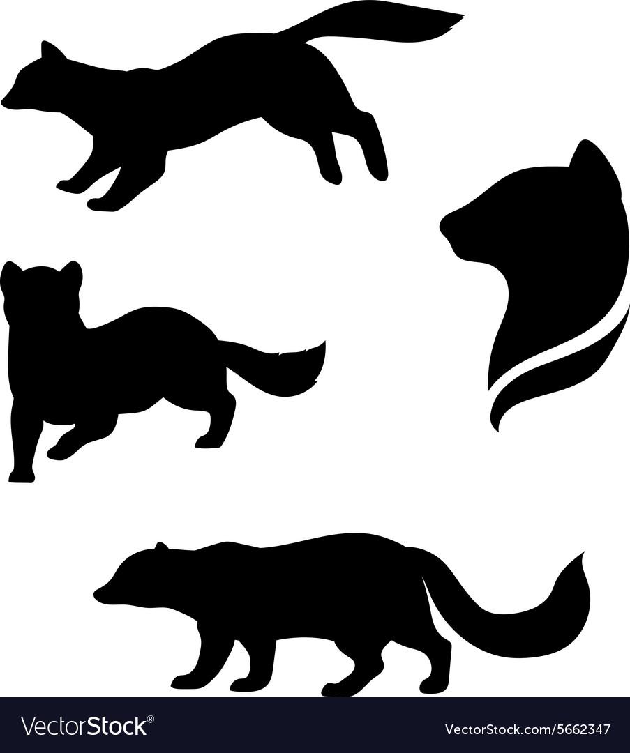 Sable animal silhouettes