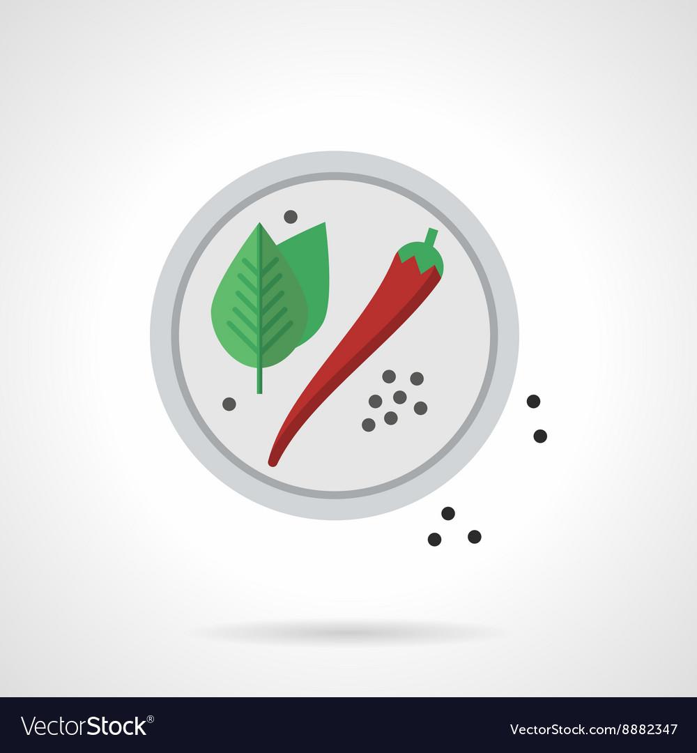 Spicy menu flat color icon vector image