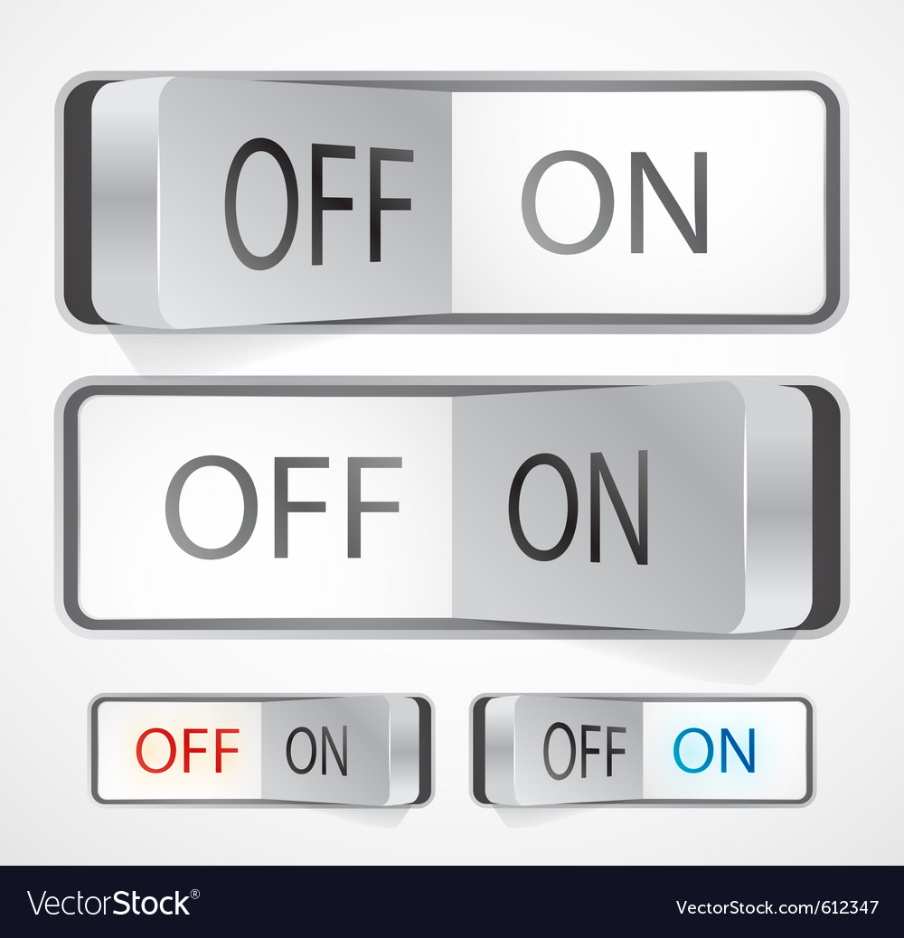 Toggle Switch Royalty Free Vector Image Vectorstock