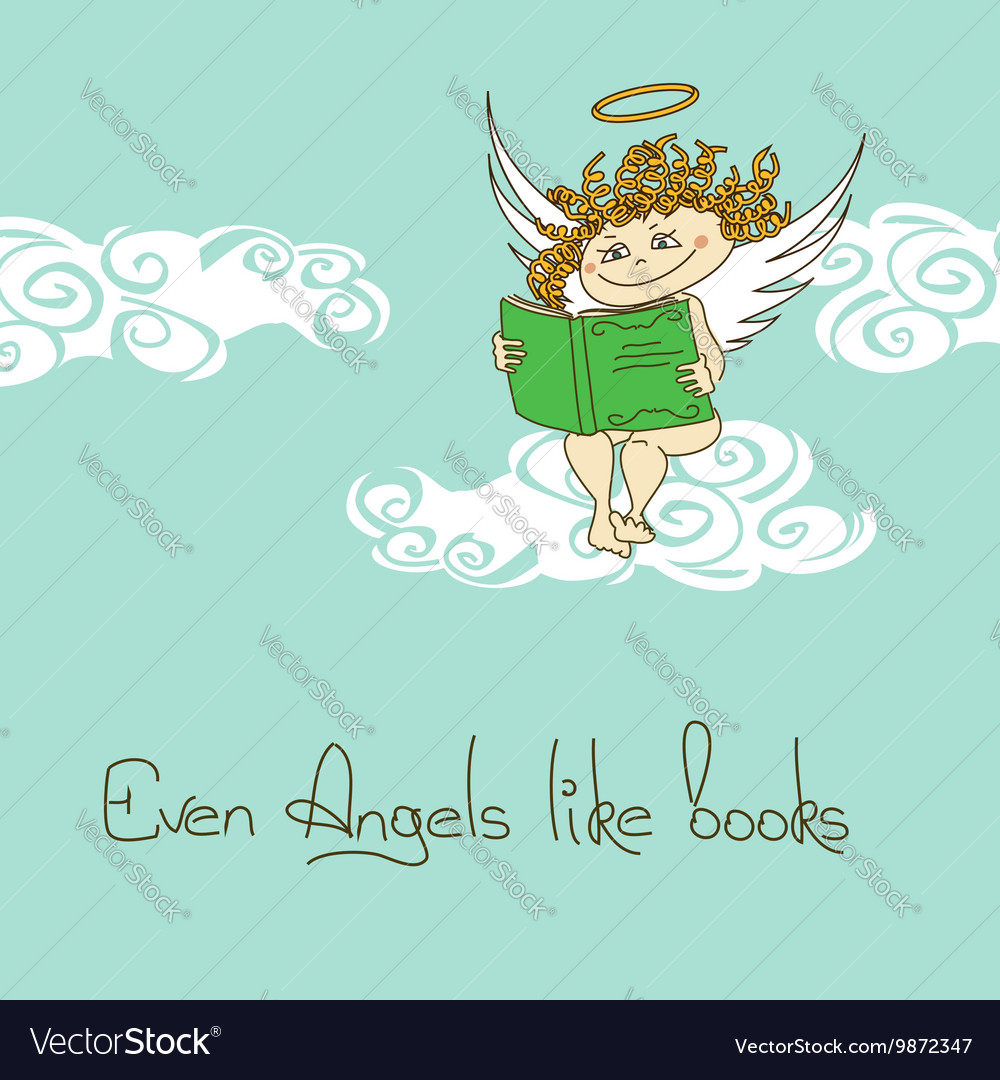 With Angel reading a book