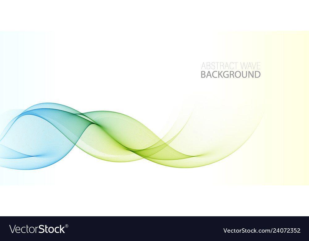 Abstract shiny color wave design element on white