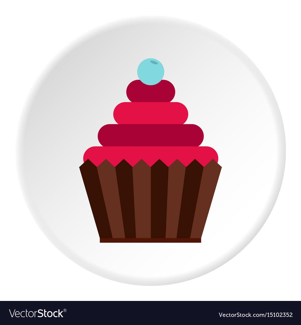Cupcake icon flat style