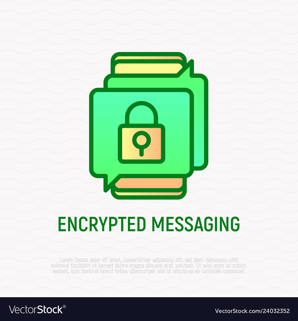 Encrypted messaging thin line icon
