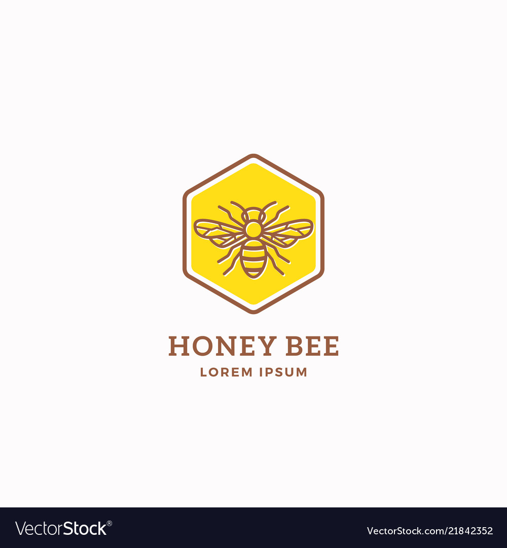 Honey bee abstract sign symbol or logo