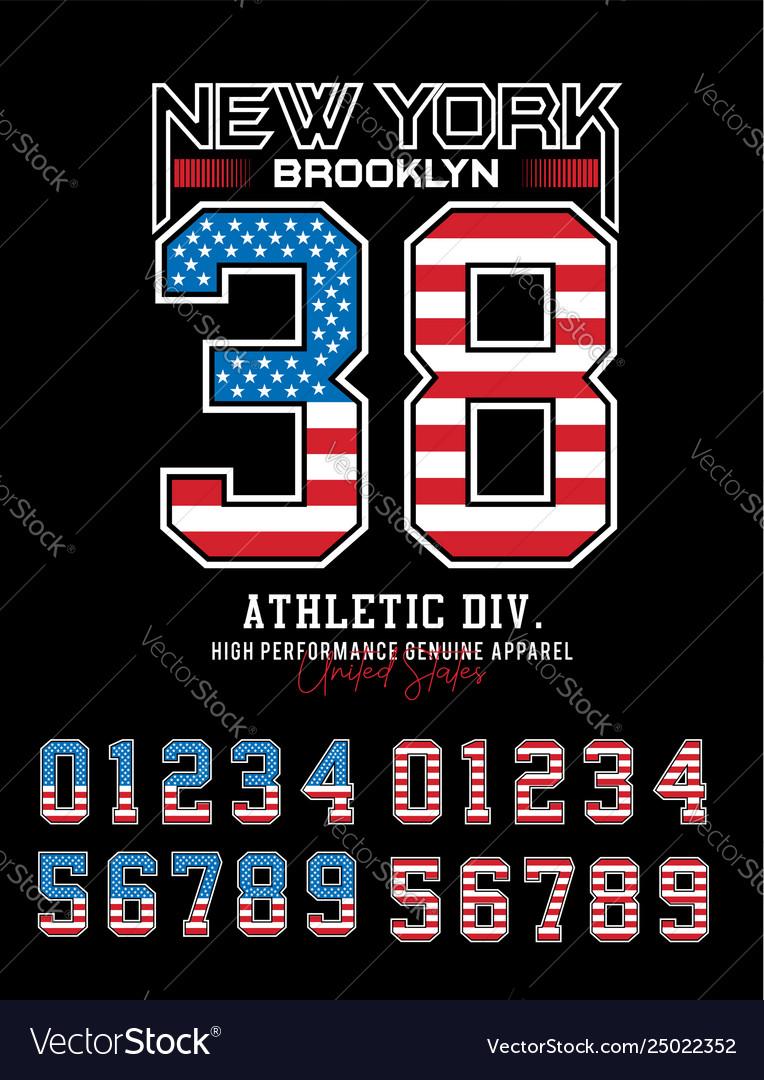 New york brooklyn 38 typography design