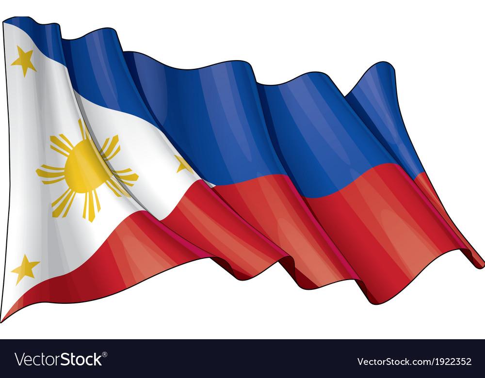 Philippines Flag Grunge vector image