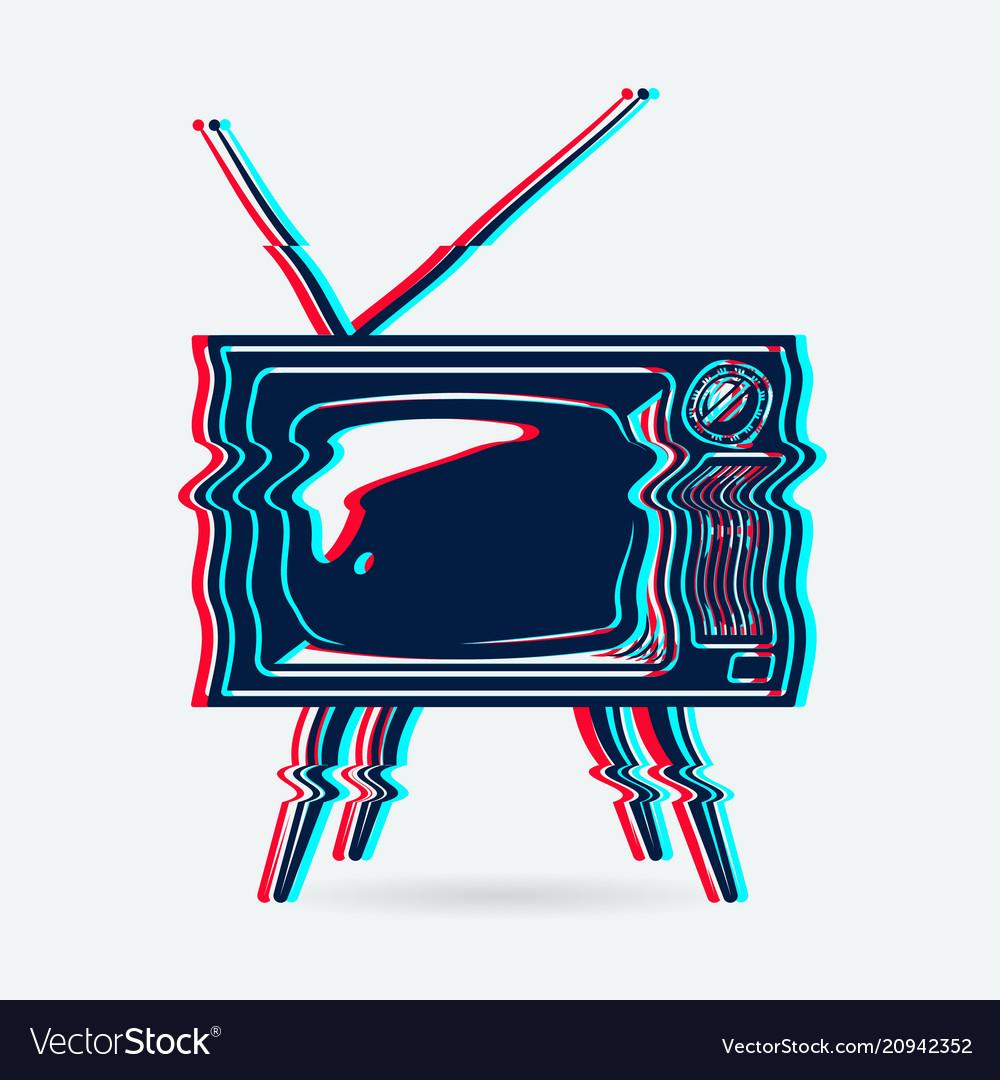 Retro tv object