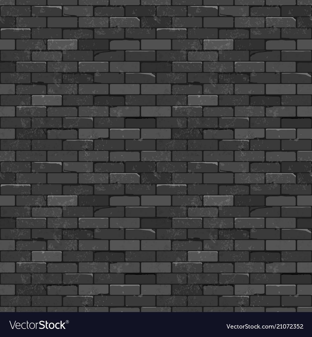 Seamless texture vintage black brick wall