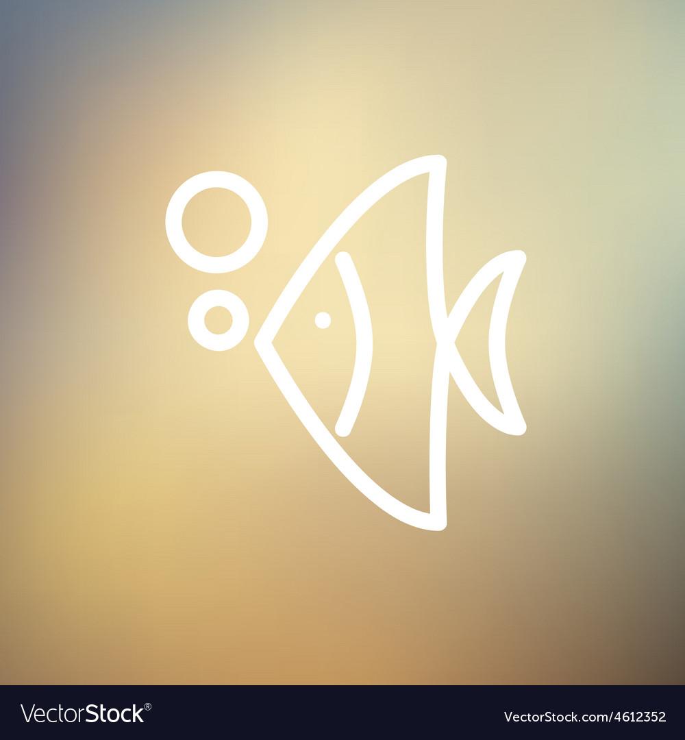 Tropical fish thin line icon