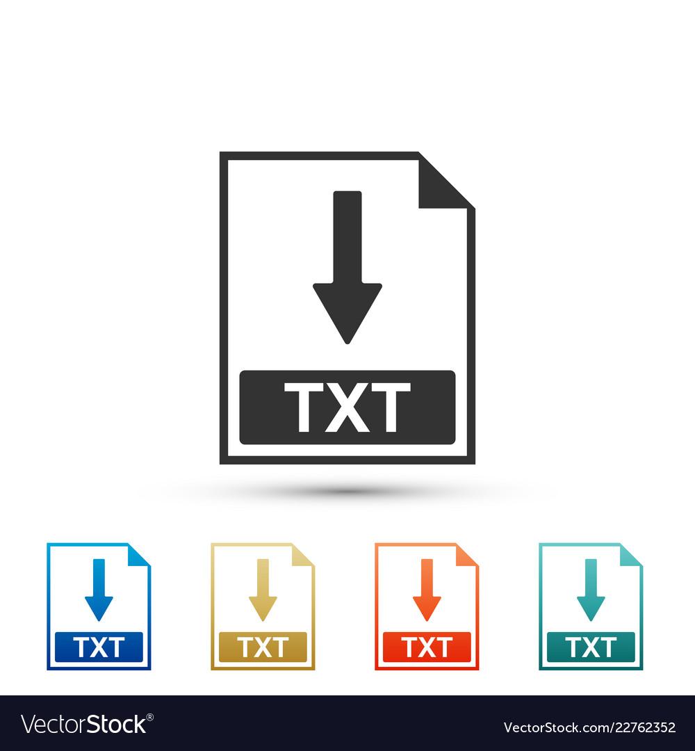 Txt file document icon download txt button icon