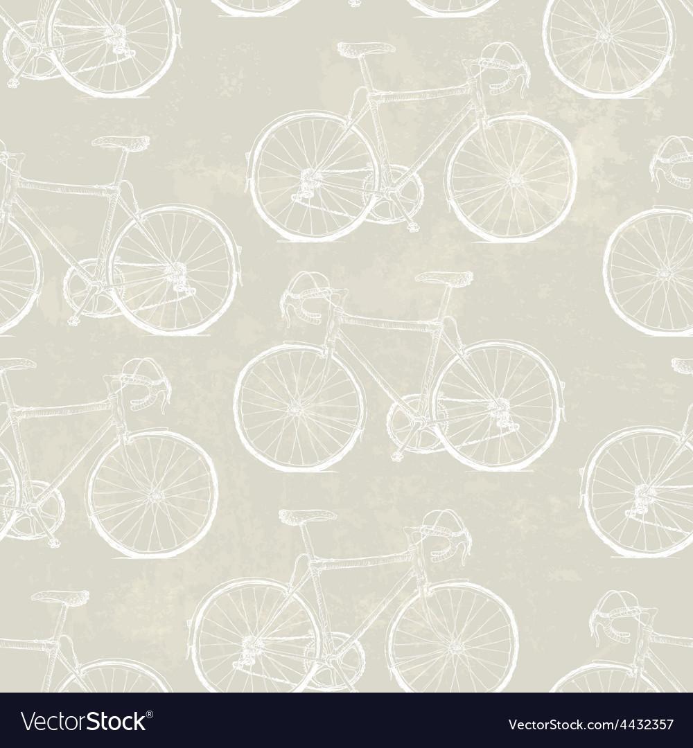 Aged vintage bike pattern