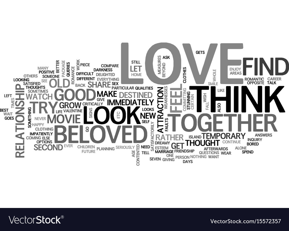 Are you in love text word cloud concept