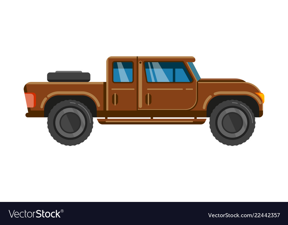 Brown pick-up truck vehicle pickup car family
