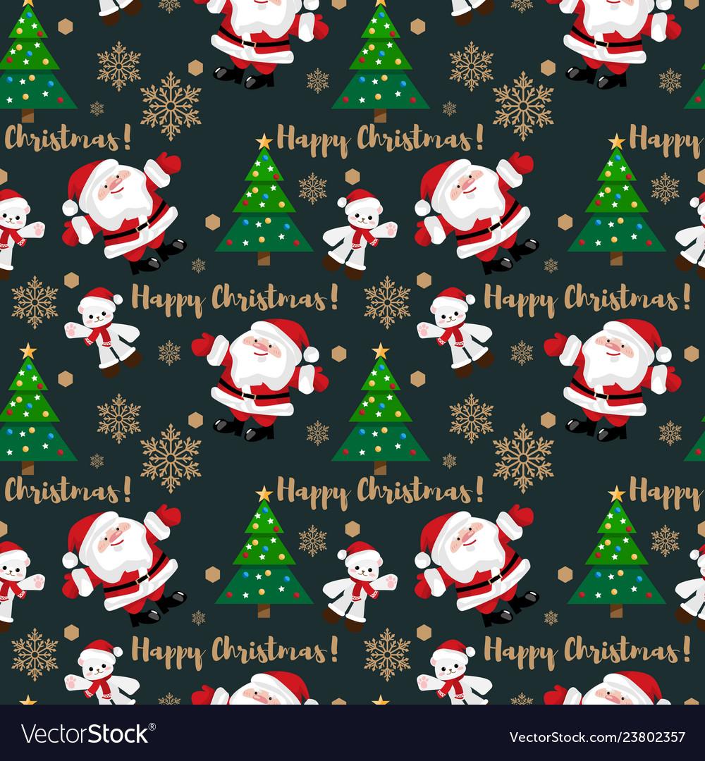 Christmas holiday season seamless pattern
