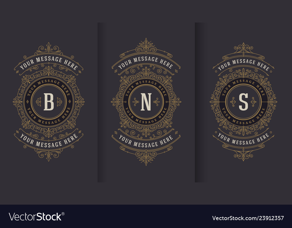 Flourishes and ornamental vintage design