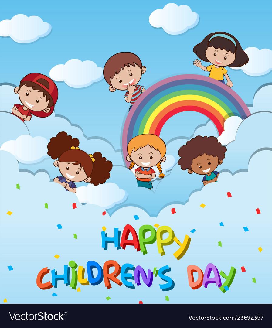 Happy Children s Day 01 vector material | Happy children's day, Children's  day, Happy kids