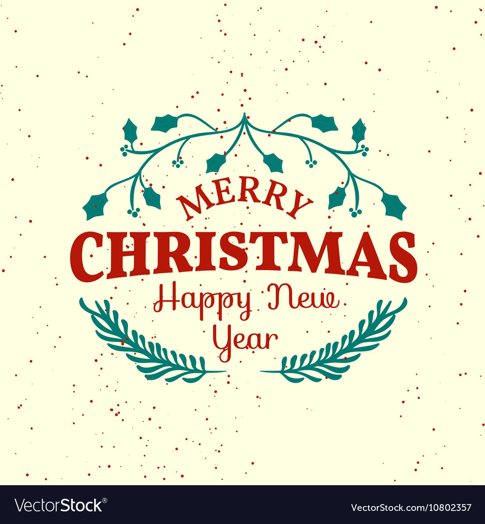Vintage Christmas Elements Royalty Free Vector Image