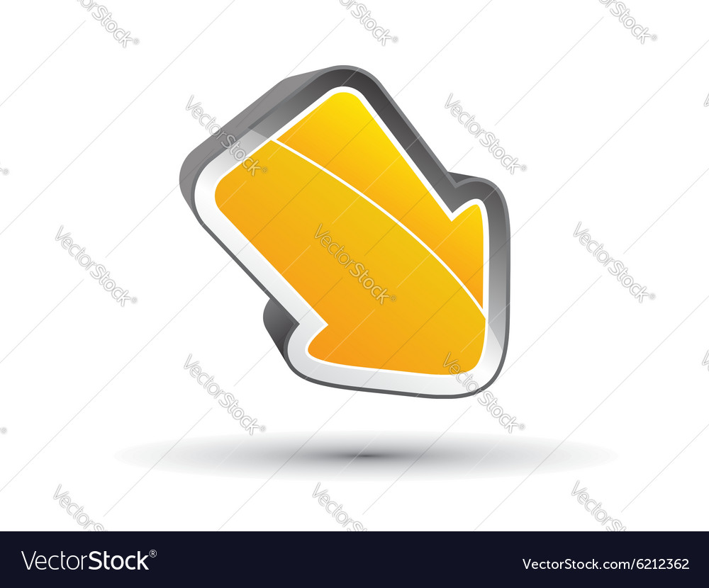 3D arrow concept
