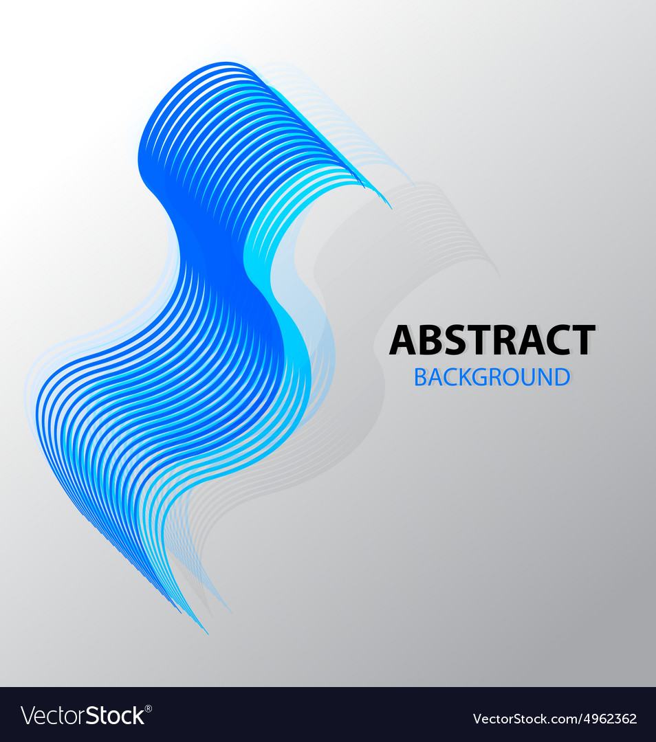 Abstract background line wave