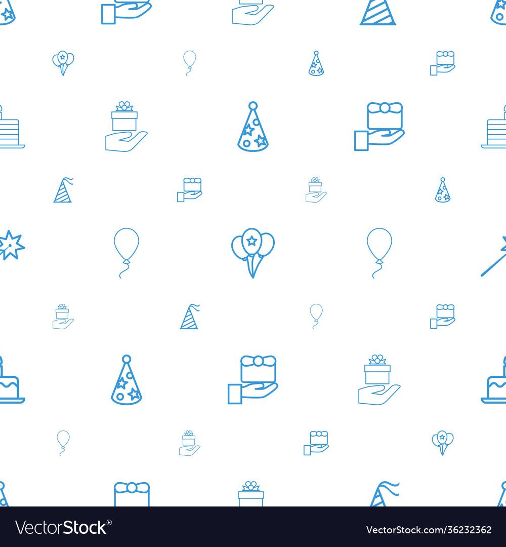 Anniversary icons pattern seamless white