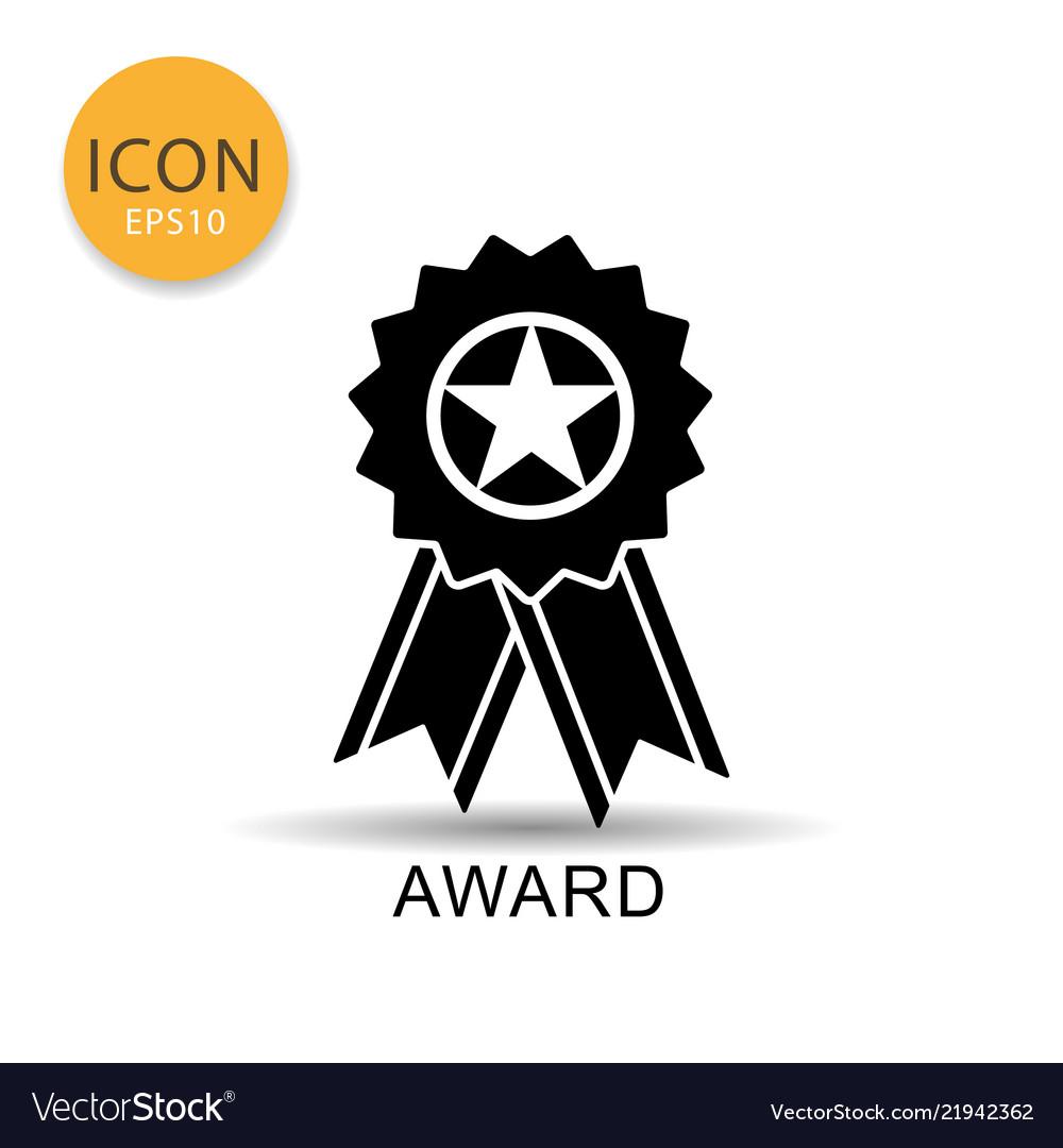 Award ribbon icon on white background