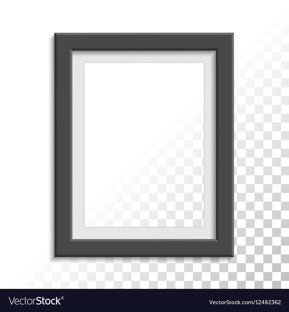 Black realistic photo frame vector image