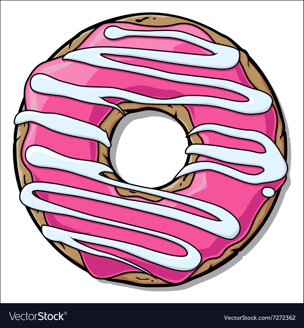 Cartoon donut