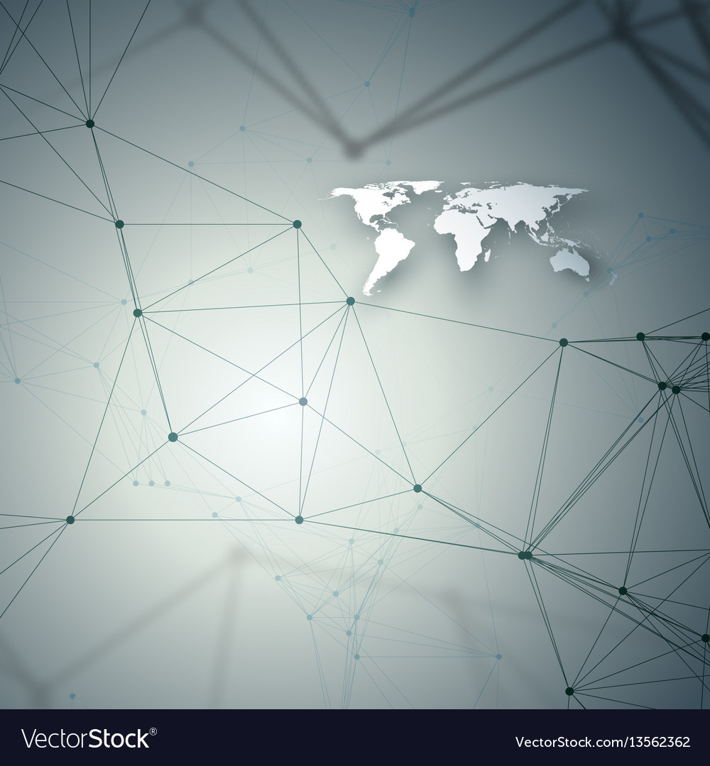 Chemistry pattern white world map connecting vector image