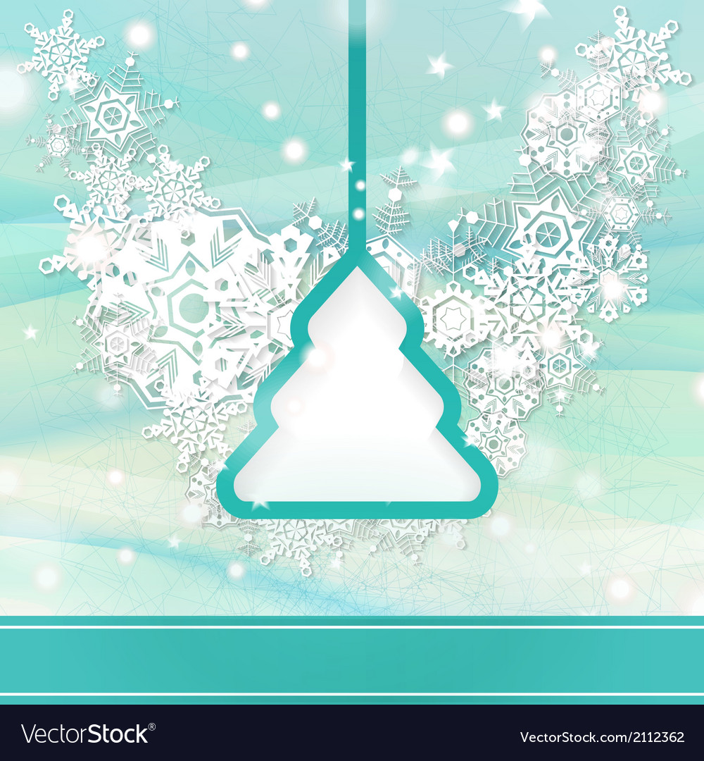 Elegant light blue Christmas background